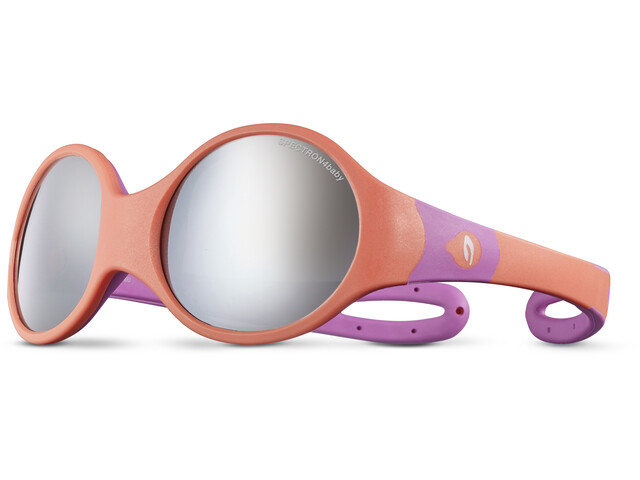 Julbo Loop L Spectron 4 Sunglasses Kids coral/rosa/grey flash silver